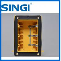 Quality Three gang plastic outlet boxes with covers , electrical outlet box for sale