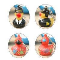 Customized Mini Rubber Animal Keychains Monster Duck For Bag BPA Free Vinyl Manufactures