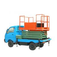Quality 11m lifting height stationary vehicle mounted scissor lift for light replacement for sale