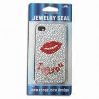Sticker for iPhone 4, Sexy Lips, Safe and Non-toxic Manufactures