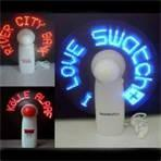 custom ABS + PVC + Metal flexible usb fan with led message for promotional items Manufactures