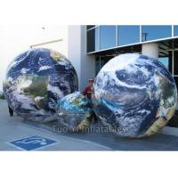 Quality Giant Customized Earth Globe Balloons Rental For Outdoor / Indoor Exhibitions for sale