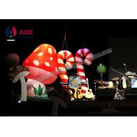 Customized Blow Up Flood Lights Inflatable Santa Outdoor Stage Decoration Candy Bars Manufactures