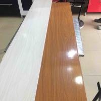 25cm Decorative Plastic Wall Panels , Wood Interior Wall Paneling Excellent Insulation Manufactures