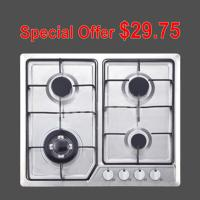 Stainless Steel Gas Hob With 4 Burners Home Appliance OEM / ODM Service Manufactures