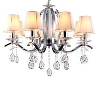 Buy cheap Metal chandelier with glass crystals 6/8 Lights with lampshade (WH-MI-53) from wholesalers