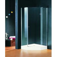 Quality Pivot Open Hinged Shower Enclosures 900 X 900 mm Double wheels with Shower Tray for sale