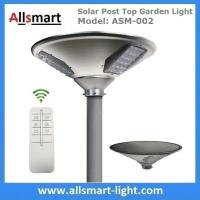 20W 2000lm Solar Post Top Garden Lights All In One Solar Pathway Garden Lamp with Post Pole for Driveway Manufactures
