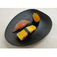 Imitation Porcelain Dinnerware Sets Korean - style Plate Black Color Ripple Finish Manufactures