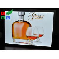 Long Life Span LED Snap Frame Light Box 420x594mm Size Single Side For Indoor Poster Display Manufactures