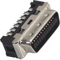 1.27mm Computer Pin Connectors Male DIP SCSI Connector LCP 30%GF UL94V-0 Gold Flash/Sn Manufactures