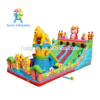 Large Outdoor gorilla design Kids Funland Inflatable Sports Games Inflatable Fun City Manufactures