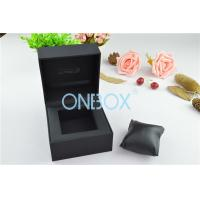 Single Men'S Watch Display Luxury Watch Box Fine Black Touch Paper With Soft Pillow Manufactures