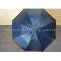 Quality Strong Self Opening Curved Handle Umbrella With Logo Priting 190T Fabric for sale