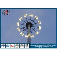 High Mast Commercial Light Pole With Lifting System , Floodlighting Poles Manufactures