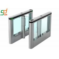 304 Stainless Steel Automatic Turnstiles Glass Wing Swing Gates Manufactures