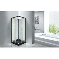 Popular Bathroom Glass Shower Cabins 800 X 800 With Square Black ABS Tray Manufactures