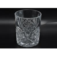 313ml Leave Pattern Embossment Clear Votive Glass Candle Holders Replacement Candle Jar Manufactures