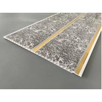 Quality Dark Gray Printing PVC Wall Panels With Golden Lines Recyclable Material for sale