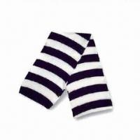 Knitted Scarf with Stripes All Over, Made of Acrylic, Suitable for Children Manufactures