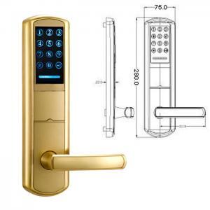 High Security Zinc Alloy Door Handle Lock Smart Key Password intelligent Door Lock Manufactures