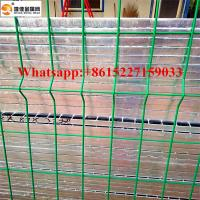 Bending triangular fence pvc coated wire mesh fence Manufactures