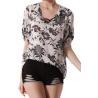 summer chiffon printed elegant ladies casual tops blouse for women girl Chiffon Dress Manufactures
