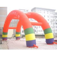 Red Color Advertising Inflatables Arch With Printed Logo For Festival Promotion Manufactures