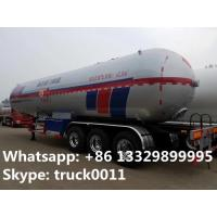 Quality factory bottom price China new biggest 61,900Liters lpg gas tank semitrailer, triples BPW/FUWA 26tons lpg gas trailer for sale