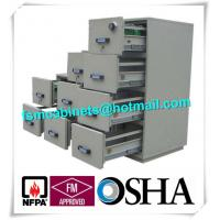 Lockable Fireproof Storage Cabinets , 4 Drawer Fireproof File Cabinet For Paper /  Disc Manufactures