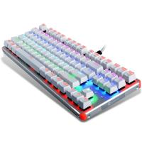 3 Color 87 Keys Ergonomic Gaming Keyboard With LED Backlight Blue Switch Manufactures