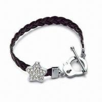 Bracelet, Suitable for Promotional Gifts, Made of Zinc Alloy Charms, OEM Orders are Welcome Manufactures