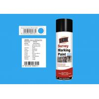 ROHS Survey Marking Paint Jiefang Blue Color For Concrete 99 % Spray Rate Manufactures