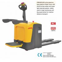 Standing Type Electric Pallet Jack With 2000KG Loading Capacity , Optional Color Manufactures
