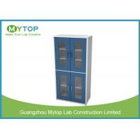 Multi Layer Glassware Laboratory Storage Cabinet With Water Tray Swing Glass Door Manufactures