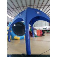 3 * 3M PVC Blue Inflatable Tent / Outdoor Advertising Tent With Logo Printing Manufactures