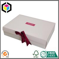 Lid Off Custom Logo Matte Color Print Carton Packaging Box with Ribbon Manufactures
