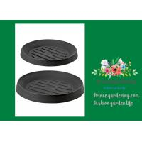 """Quality Plastic Flower Pot Saucers / Plant Pot Trays Prevents Water Stains On Decks Large: is 13"""" inside diameter, 18"""" outside for sale"""