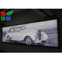 IP65 Waterproof Frameless LED Lightbox , Snap Frame Backlit Fabric Lightbox In Public Manufactures