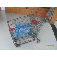 Buy cheap Grey Powder Coating Asian Type Wire Shopping Trolley Wiht 4 Swivel 5 Inch Casters from wholesalers