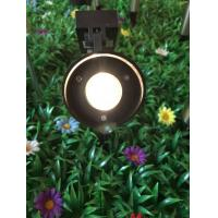 Stainless Steel Landscape Mono Crystal Solar LED Spotlight With Black Finished Manufactures