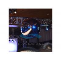 Quality Attractive Hanging Large Inflatable Balls , PVC Mirror Giant Advertising Balloons for sale