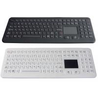 Quality IP68 Desktop Waterproof Rubber Medical Grade Keyboards with Touchpad with USB for sale