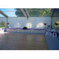 Retardant Waterproof White Cover Aluminum Luxury Wedding Event Tents With White Roof Manufactures