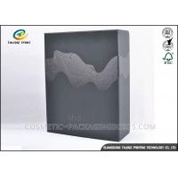 Embossing Black Merchandise Packaging Boxes , DIY Packaging Box With Drawer Manufactures
