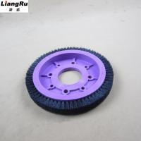 Quality Textile Machinery Stenter Brushes Roll Cotton Spindle Nylon Bristle Aluminum Body for sale