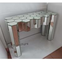 Diamond Design Mirrored Glass Console Table , Modern Console Mirror Table Manufactures