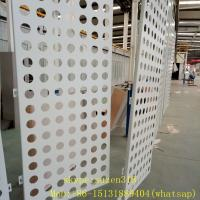 aluminum powder coating white perforated metal sheet panels for walls Manufactures