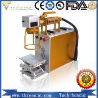 Portable type fiber laser marking machine for metal and nonmetal material. TL20W best prce. THREECNC Manufactures