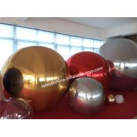 Decorative Inflatable Mirror Ball With Yellow Mirror Cloth Events Use Manufactures
